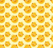 Cat Seamless Pattern Vector Graphic linda libre illustration