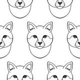 Cat seamless pattern Stock Image
