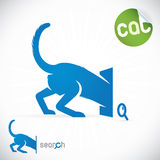 Cat Search Icon Illustration Stock