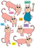 Cat Set_eps Stock Image