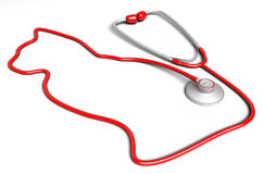 Cat-shaped stethoscope Royalty Free Stock Photography
