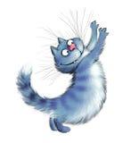 A cat sharpen claws. A cheerful blue cat sharpen claws Stock Photos