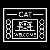 Cat shelter simple vector icon. Black and white illustration of house for Homeless cats. Outline linear icon. Stock Photo