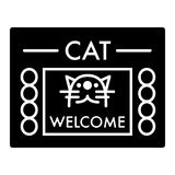 Cat shelter simple vector icon. Black and white illustration of house for Homeless cats. Solid linear icon. Stock Photography