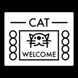 Cat shelter simple vector icon. Black and white illustration of house for Homeless cats. Solid linear icon. Royalty Free Stock Images