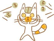 Cat Shocked förfallet omgivande oväsen också vektor för coreldrawillustration Del av en serie stock illustrationer