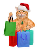 Cat  Shopper  Sales. Royalty Free Stock Image