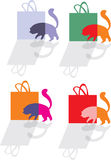 Cat and shopping bag Royalty Free Stock Photography