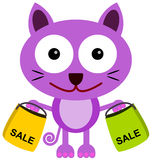Cat shops Royalty Free Stock Image