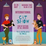 Cat Show Announcement Poster Images stock