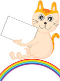 Cat Show Name Card Rainbow Arkivbilder