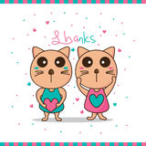 Cat shy thanks Royalty Free Stock Photos