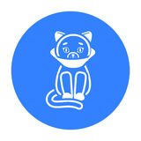 Cat sick icon of vector illustration for web and mobile Royalty Free Stock Photos