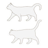 Cat side view scheme silhouette vector Stock Photo