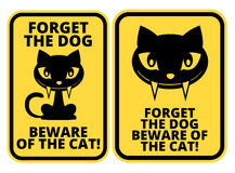 Cat Sign Images libres de droits
