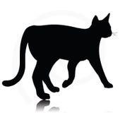 Cat Silhouette Fotografie Stock Libere da Diritti