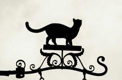 Cat Silhouette Royaltyfria Bilder