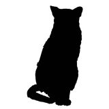 Cat silhouette 3 Stock Photos