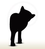 Cat silhouette Stock Photography