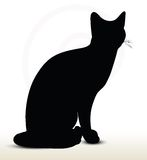 cat silhouette Stock Image