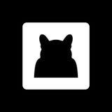 Cat Silhouette nel vettore Fotografia Stock Libera da Diritti