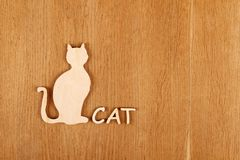 Cat silhouette. Postcard Stock Photos