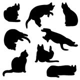 Cat silhouette set Stock Photo