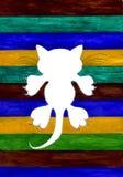 Cat Silhouette stilizzata Immagini Stock