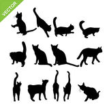 Cat silhouette vector Royalty Free Stock Photography