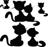 Cat silhouette - vector illustration Stock Photo