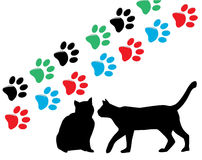 Cat silhouettes Royalty Free Stock Photo