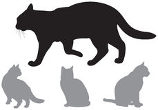 Cat Silhouettes Royalty Free Stock Image