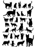 Cat Silhouettes Set Royalty Free Stock Image