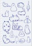 Cat Sketches Royaltyfria Foton