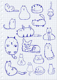 Cat Sketches Royalty Free Stock Photos