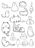 Cat Sketches Royalty Free Stock Photo