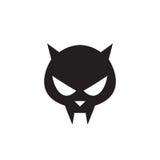 Cat skull symbol - vector illustration. Cat skull symbol - isolated sign Stock Photos