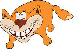 Cat and a smile. Cartoon Stock Photography