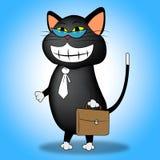 Cat Smiling Indicates Pets Joy och kattdjur royaltyfri illustrationer