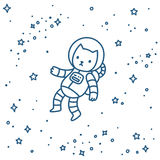 Cat in space Royalty Free Stock Photos