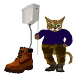 The cat spoiled in footwear Royalty Free Stock Photography