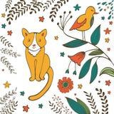 Cat in spring Stock Image