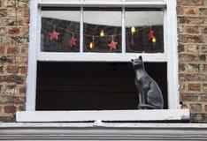 Cat Statue en York Foto de archivo libre de regalías