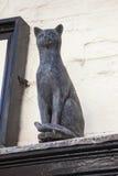 Cat Statue i York Royaltyfri Bild