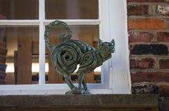 Cat Statue i York Arkivfoton