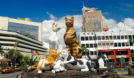 Cat Statue, Kuching, Sarawak, Malasia fotografía de archivo