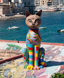 The cat statue from Malta. This statue is photographed on Malta. A place where they helped homeless cats Royalty Free Stock Photography