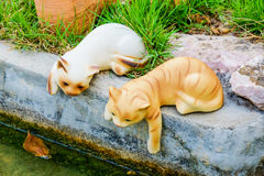 Cat statue Stock Image