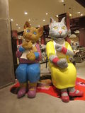 Cat Statues Imagem de Stock