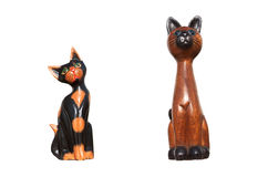 Cat statues stock photo